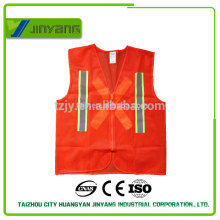 light mesh fabric reflective safety vest wh zipper and refective ribbon